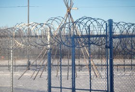 A tipi at a federal prison in Edmonton. Prison systems have legal options to decrease their prison populations, including ways to return Indigenous people in prison to their communities. - The Office of the Correctional Investigator