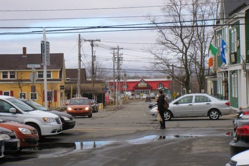 Wolfville's Main Street was the site of a stabbing early on Sunday morning.
