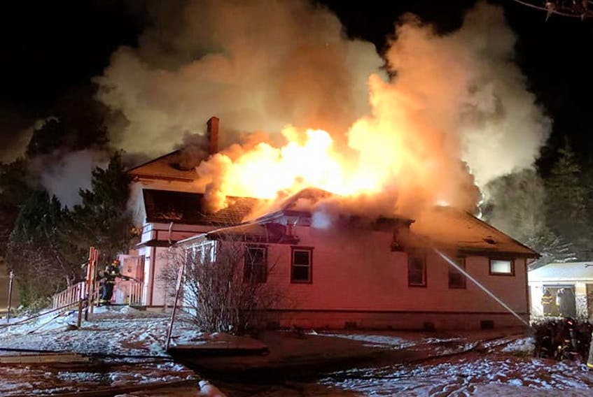 The scene that greeted fire fighters at the Barrington Passage structure fire on Dec. 17.  Julia Murphy Facebook