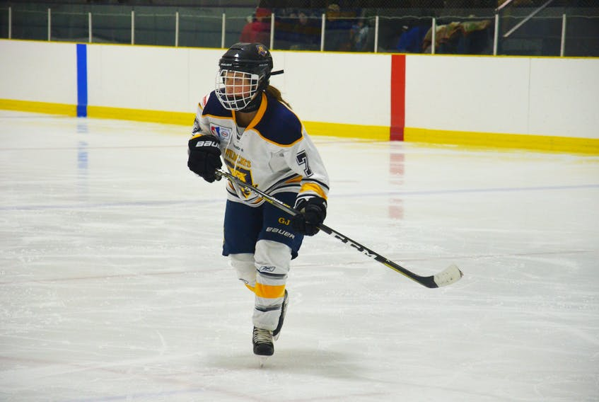 Sophie Flynn scored the winning goal for the Mid-Isle Wildcats against Kings County in a P.E.I. Midget AAA Female Hockey League game Sunday.