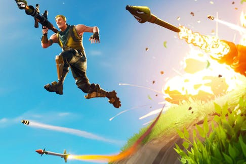 A scene from the popular game Fortnite: Battle Royale.