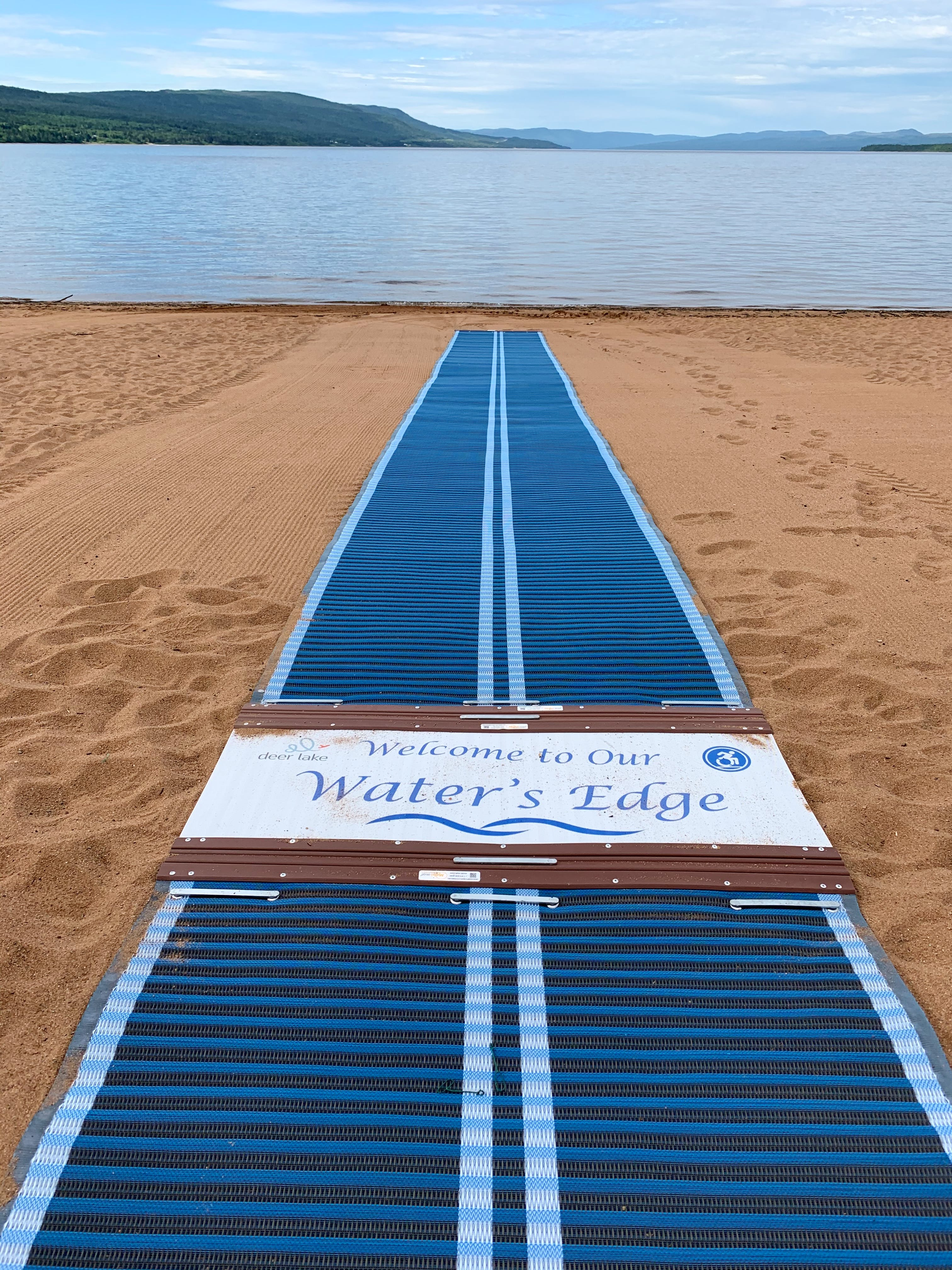 The Town of Deer Lake has installed accessible mats at Deer Lake Beach that will enable people with mobility issues to access and enjoy the beach.
