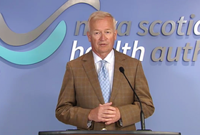 Frank van Schaayk, chairman of the Nova Scotia Health Authority board, at the 2019-2020 annual general meeting livestream.