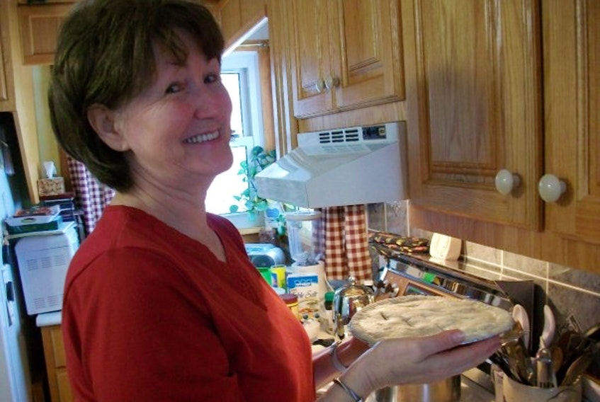 Mary Rossiter, from St. Peter's Bay, P.E.I., prefers making meat pies to the traditional fruit pies.