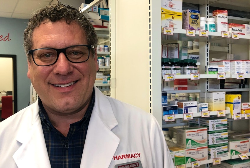 Wally Kowalchuk, owner of Wally's Pharmasave in Cornwall, PEI, says there has been a significant drop in the sale of cold and flu meds this year, which he attributes to wearing face masks and frequent handwashing.