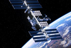 The International Space Station is readily visible as a very bright, gold-tinged point of light, and details can often be seen using binoculars.