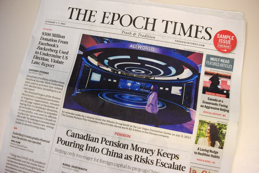 A copy of The Epoch Times, a U.S. right-wing newspaper, was mailed out to communities across Canada. Many residents are upset about the paper.