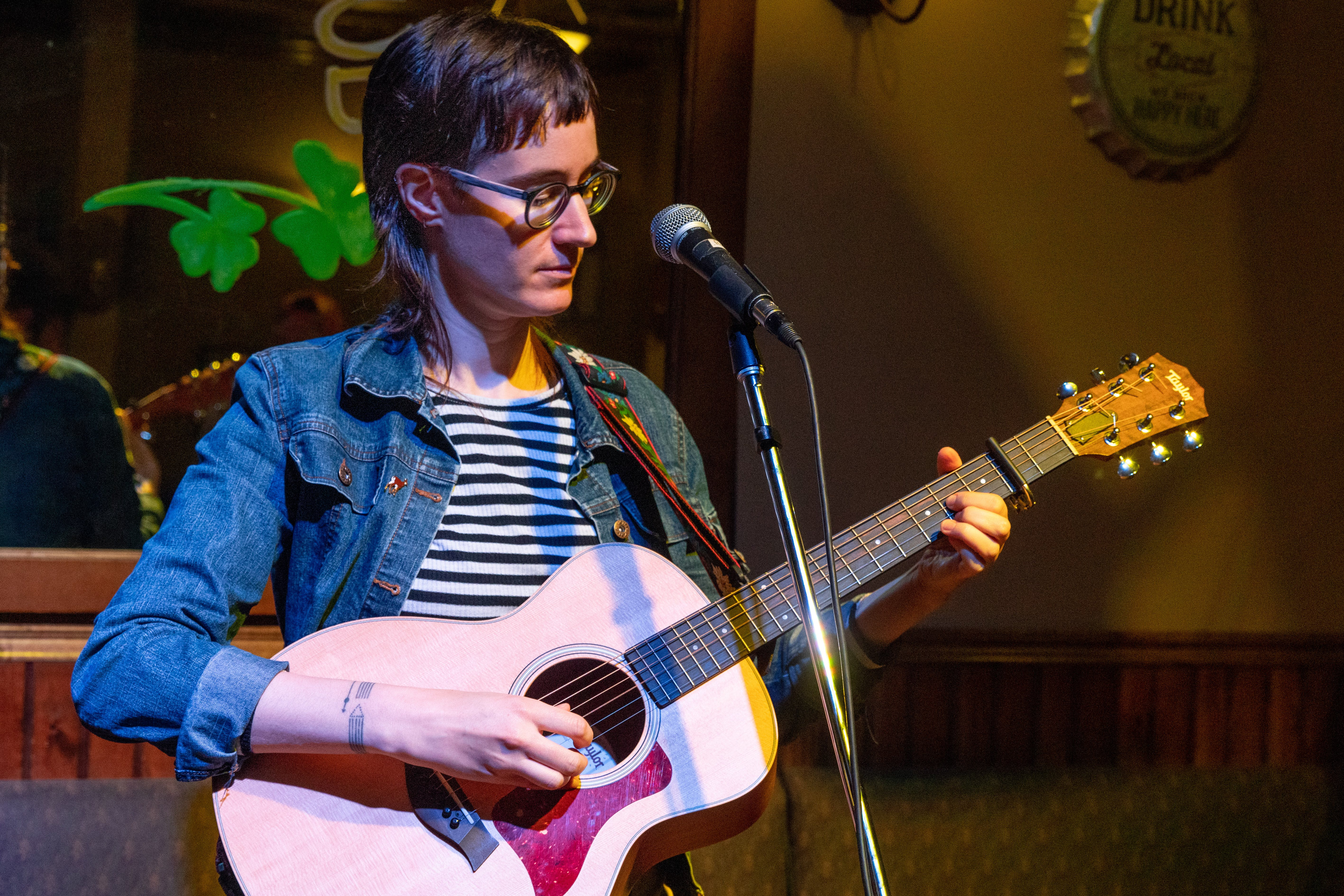 Rebecca Fairless hosted an open mic before COVID-19 and has since pivoted to playing online, which she says has fostered a different, yet cool, form of connection between performers and their audience.