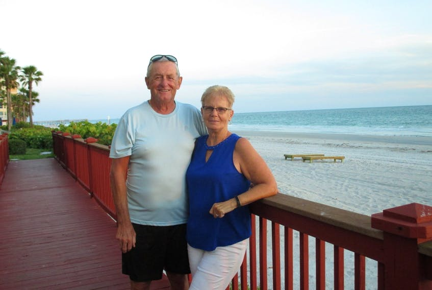 Larry and Lydia O'Quinn from Corner Brook, NL normally spend winters in Largo, Florida. COVID-19 has meant that the couple will have to spend this winter at home.
