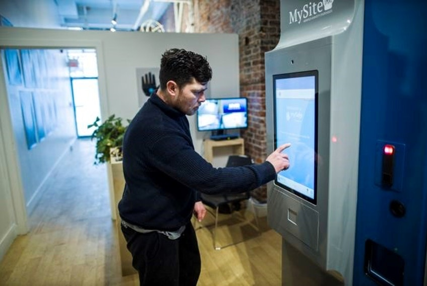 A client using one of the MySafe machines in Vancouver. It's hoped that expanding the program to the East Coast could replace risky street drugs with safe, pharmaceutical-grade opioids and reduce overdoses.