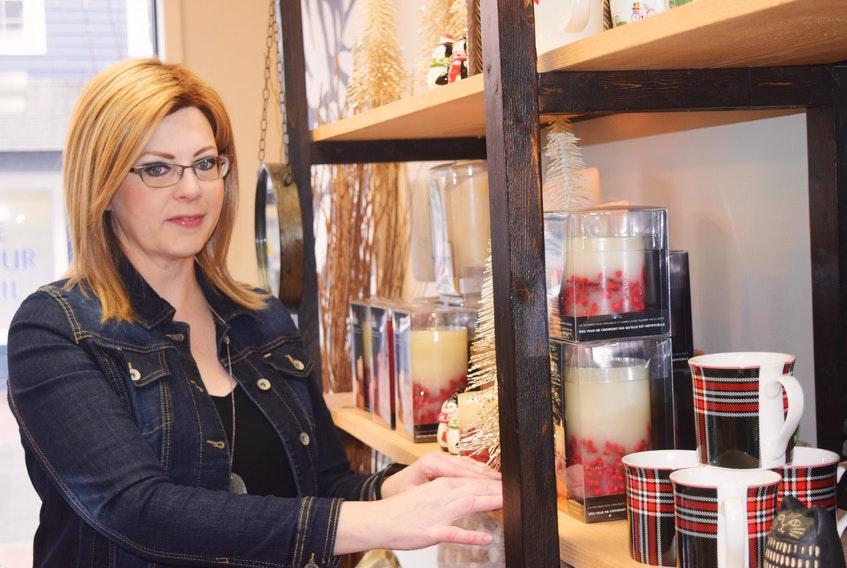 Angela MacDonald of Angela's Home Décor in downtown New Glasgow says she is grateful for the support the community has shown to small businesses like hers this year. Her business has actually exceeded its sales target for the year, she says.