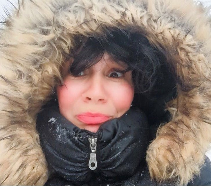 Bundled up or not, Emilie Chiasson is not a fan of winter.