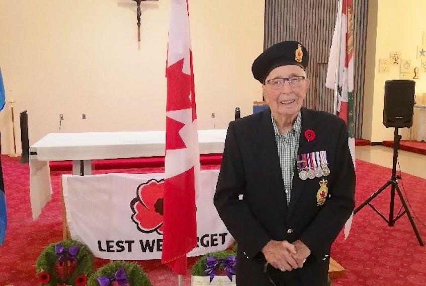 George Olscamp oldest living war vet on PEI at 101.