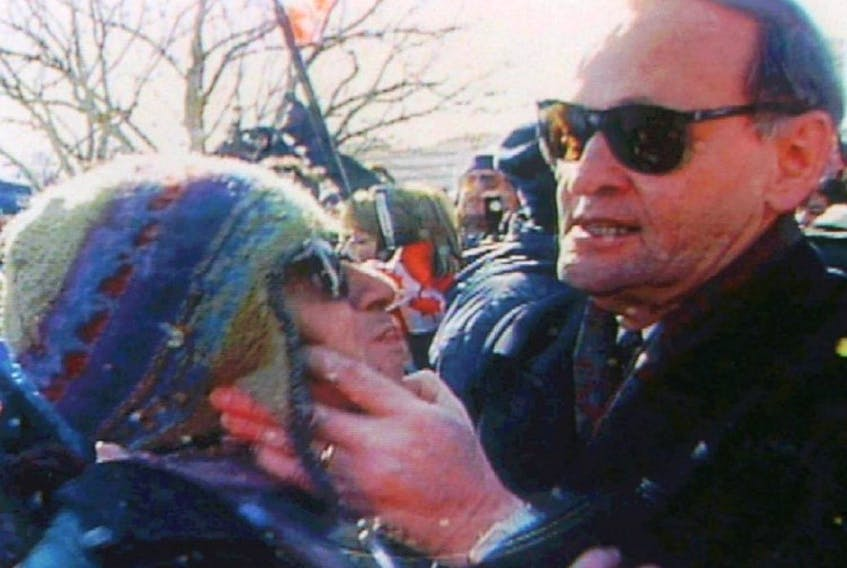 Jean Chretien – a definite character - gives a 'Shawinigan handshake'. Columnist Emilie Chiasson reflects on the lack of characters today.