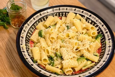 The beauty of this one-pot recipe is its many variations, like rigatoni with zucchini, basil and lemon. GABBY PEYTON PHOTO