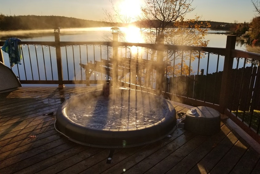 Laura Lahey, from Timberlea, N.S. says she loves her Softub as it is easy to maintain, not hard on electricity and the perfect size for what her family needed.