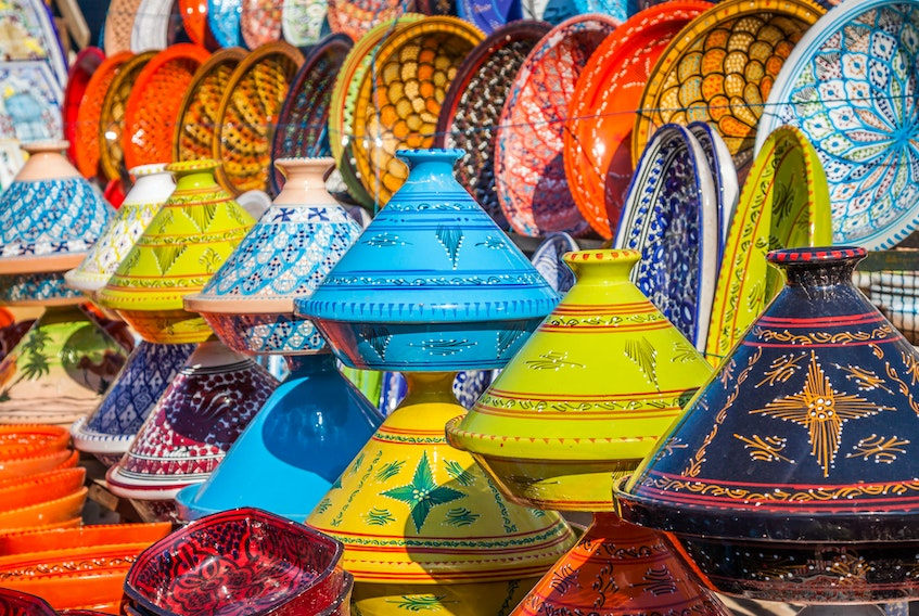 The North Africa dinner table is colourful with tagine pots that are traditionally used to cook roast meats. 123RF STOCK PHOTO