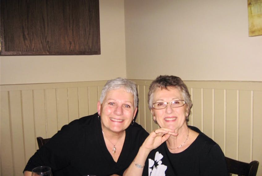 Linda Dalley, left, and Gloria (Battcock) Scott have been friends for over half-a-century. CONTRIBUTED