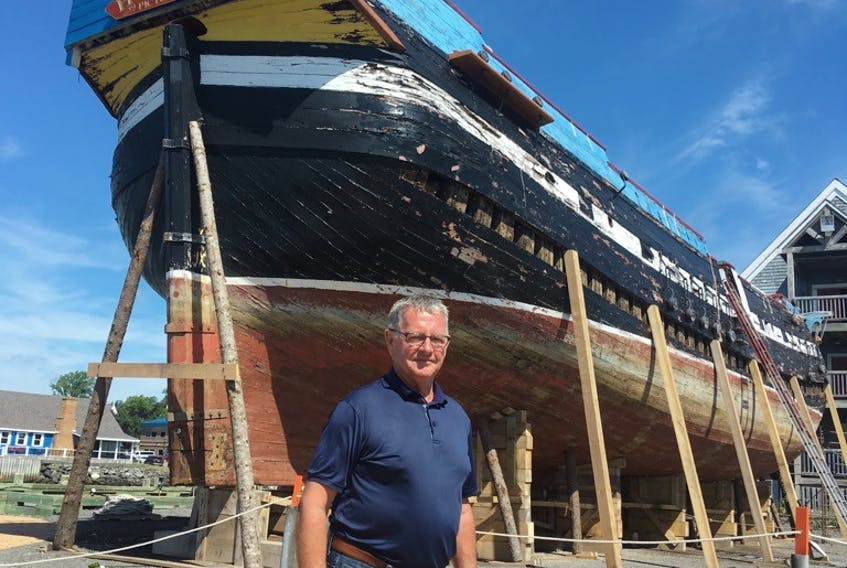 Laurie MacDonald, president of the Ship Hector Society, dreams of the day the replica will be back in the waters of Pictou Harbour. A restoration project was launched earlier this year that will cost between $3.4 and $3.9 million.
