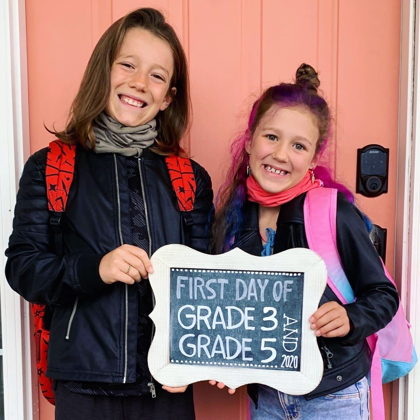 Heather's son started Grade 5 and her daughter started Grade 3, and they're both loving this unusual school year.