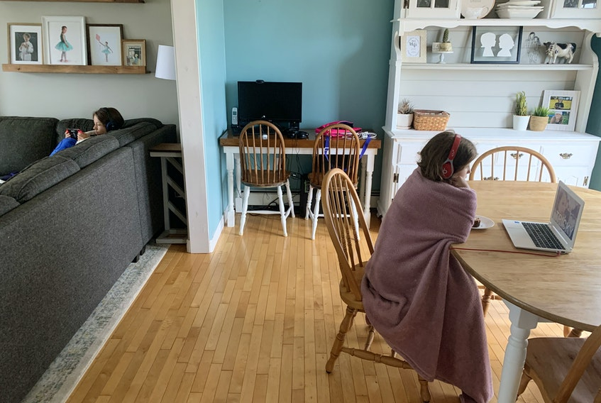 """Heather's kids are always on separate screens with headphones on, which doesn't feel like the """"togetherness"""" type of screen time from her own childhood. HEATHER LAURA CLARKE PHOTO"""
