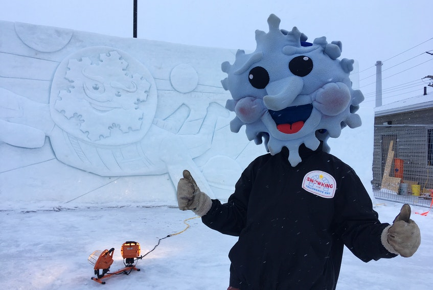 P.E.I.'s Abe Waterman has carved snow sculptures for several festivals and events in Canada, including Charlottetown's Jack Frost Festival.