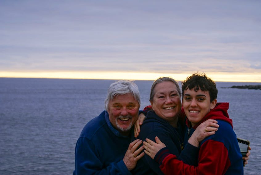 Manuel Velazquez Walker, pictured with his host family in St. John's, NL, is facing a lot of unknowns about his future study in Canada. The international student from the Patagonia region of Argentina just finished Grade 11 in Newfoundland and was unable to return home for the summer as planned.