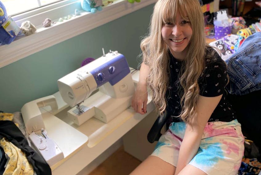 Jess Gillis has always loved expressing herself by wearing unique clothing. During quarantine, she began upcycling old clothing into new styles.