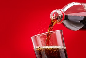 Like water, diet soda usually contains no calories - as opposed to regular soda, which typically contains in the range of 15-200 calories. Instead, diet soda is sweetened artificially. Research into artificial sweeteners is fairly dated, however.