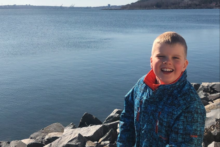 Hugh Garber, from Bedford, is all smiles during a trip to the Halifax waterfront.
