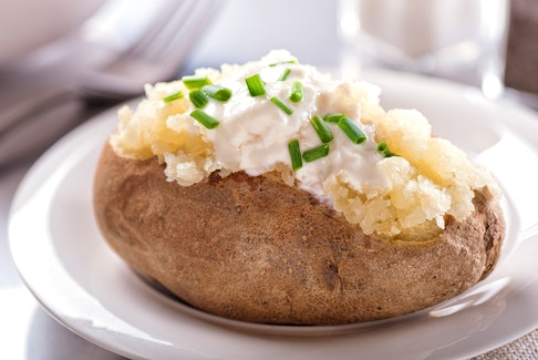 Baked potatoes are a favourite for young and old. CONTRIBUTED