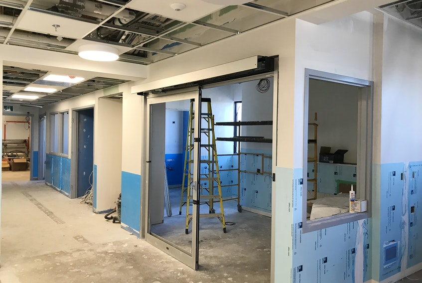 Work is continuing on the new dialysis unit at the Glace Bay Hospital, however it won't meet its original opening schedule of this spring. The work has been slowed by COVID-19 restrictions. It is now expected to be completed in the summer. CONTRIBUTED
