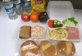 An example of the $12 packed lunches Crystal Blair is providing for truckers.