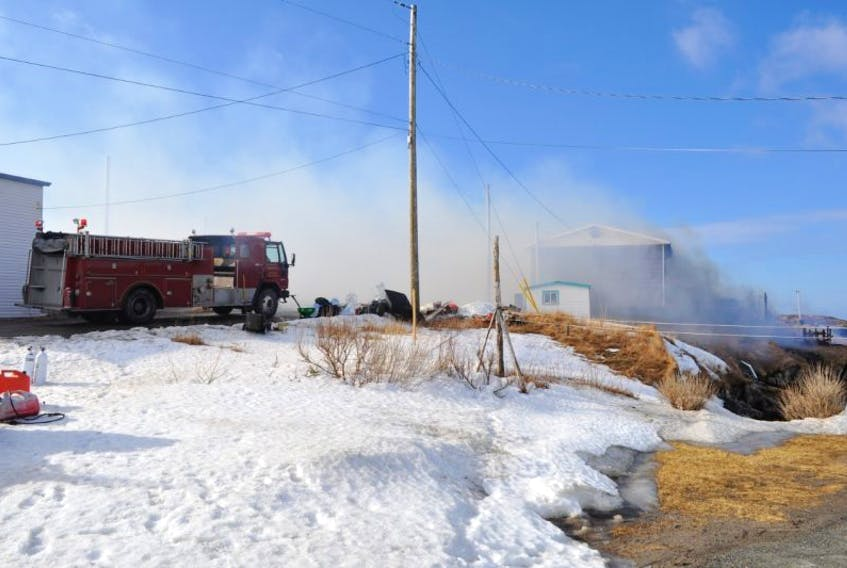 The fire that destroyed two homes in Margaree on March 1 is not considered suspicious.