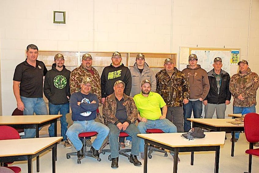 The Sou'Wes Newfoundland chapter of Delta Waterfowl is the newest piece of the conservation and advocacy organization. Regional director Russ Donnelly, far left, visited Port aux Basques to help the group get off the ground.