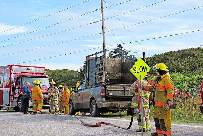 The Burgeo Volunteer Fire Department responded to a fire in the local garbage dump.