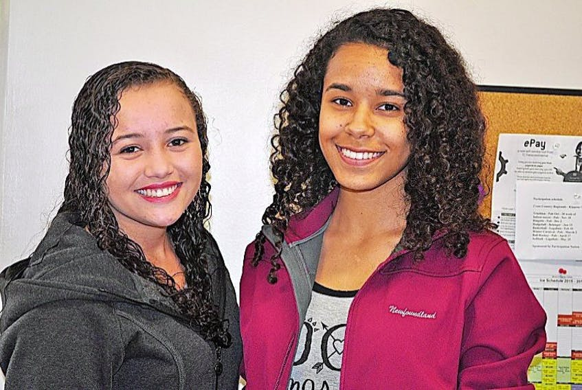 Weslandia Romualdo and Yasmine Sa, both from Brazil, are currently in Port aux Basques and attending St. James Regional High through an exchange program.
