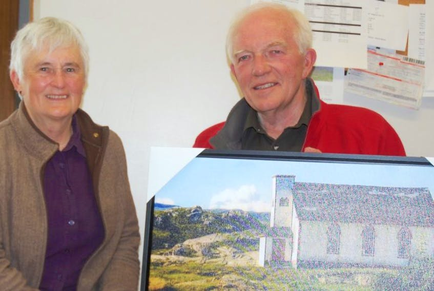 Julia and John Breckenridge have purchased and are working to restore the church in Petites. They will be selling tickets on three of these pictures on canvas to raise funds.