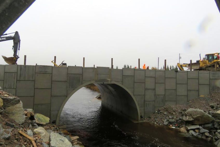 The new culvert in place at Wooden Tilt Brook