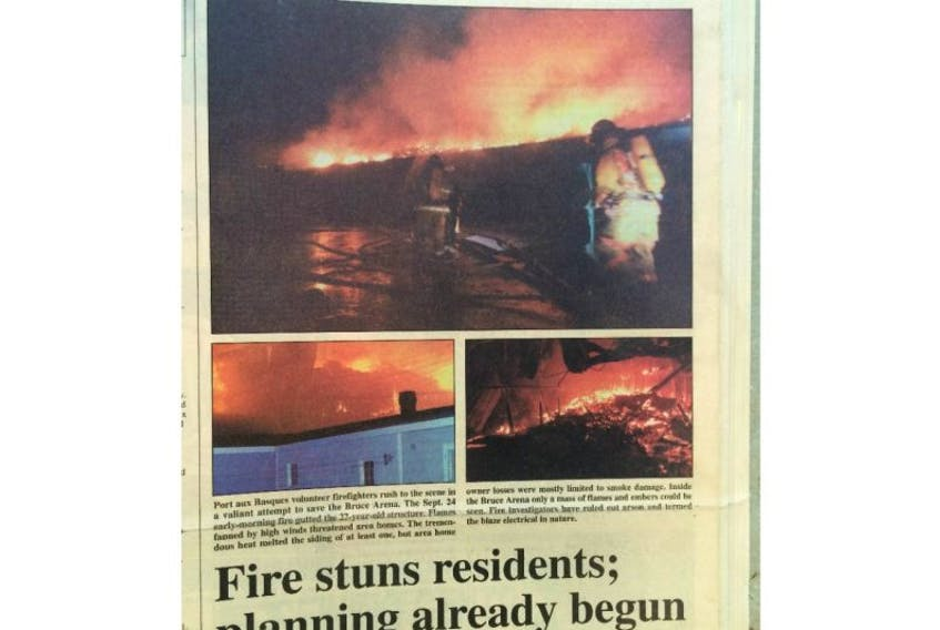 Oct. 2, 1995, the front page of The Gulf News reported on the destruction of the old Bruce Arena.
