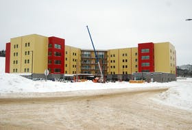 Construction for the new long-term care building in Corner Brook is still underway. It is expected to completed by Feb. 14. STEPHEN ROBERTS / THE WESTERN STAR