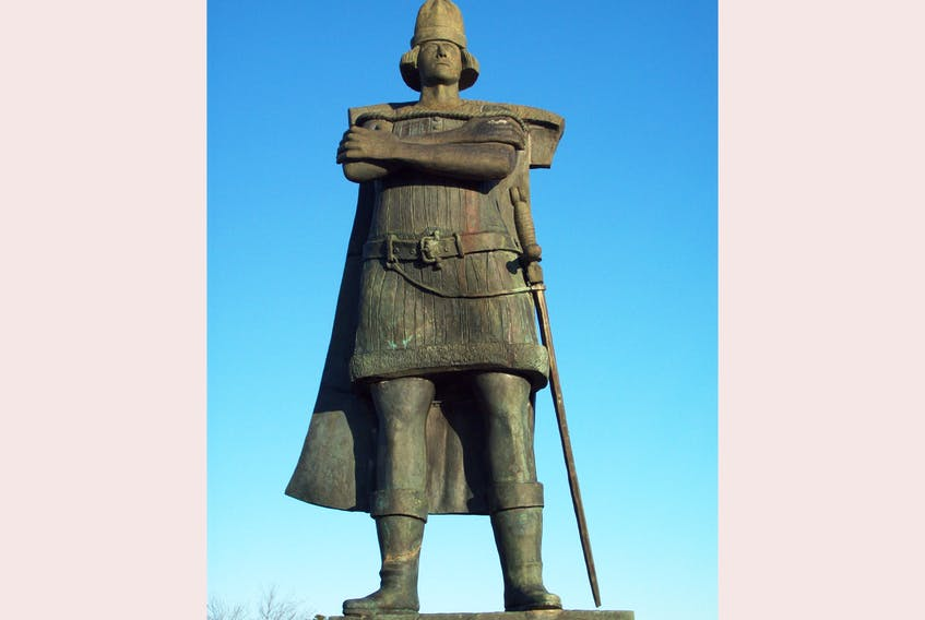 The statue of Gaspar Corte-Real in St. John's near Confederation Building in St. John's. — Contributed