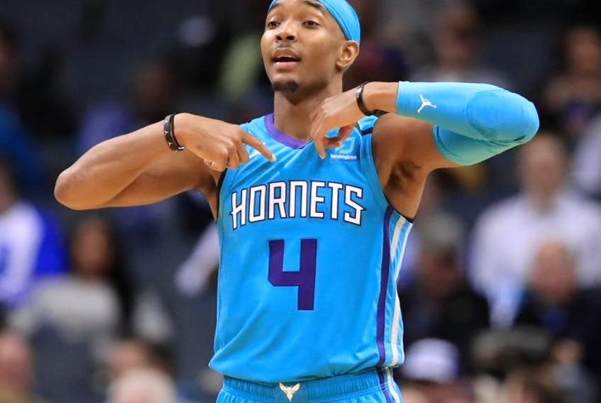 Devonte Graham and the Charlotte Hornets take on the Raptors Friday. (Getty images)