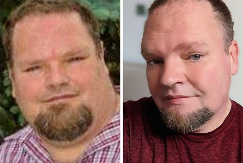 A side-by-side comparison of Dave Murphy at his heaviest (left) and now. Contributed photo