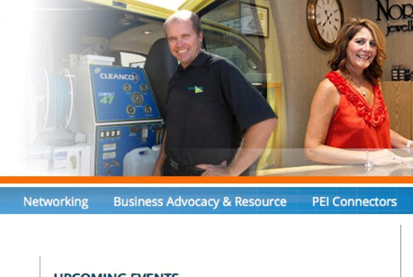 Screenshot from the Greater Charlottetown Area Chamber of Commerce website