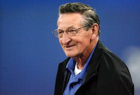 Walter Gretzky, father of NHL legend Wayne Gretzky, watches the Toronto Blue Jays  and New York Yankees MLB American League baseball game in Toronto, May 12, 2009.