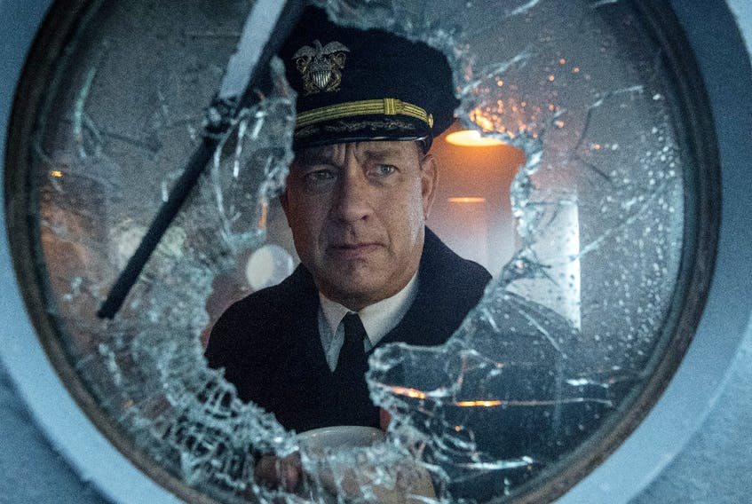 Tom Hanks stars as Ernest Krause in the naval thriller Greyhound.