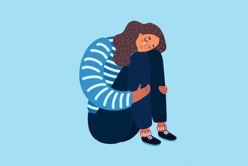grief stock illustration