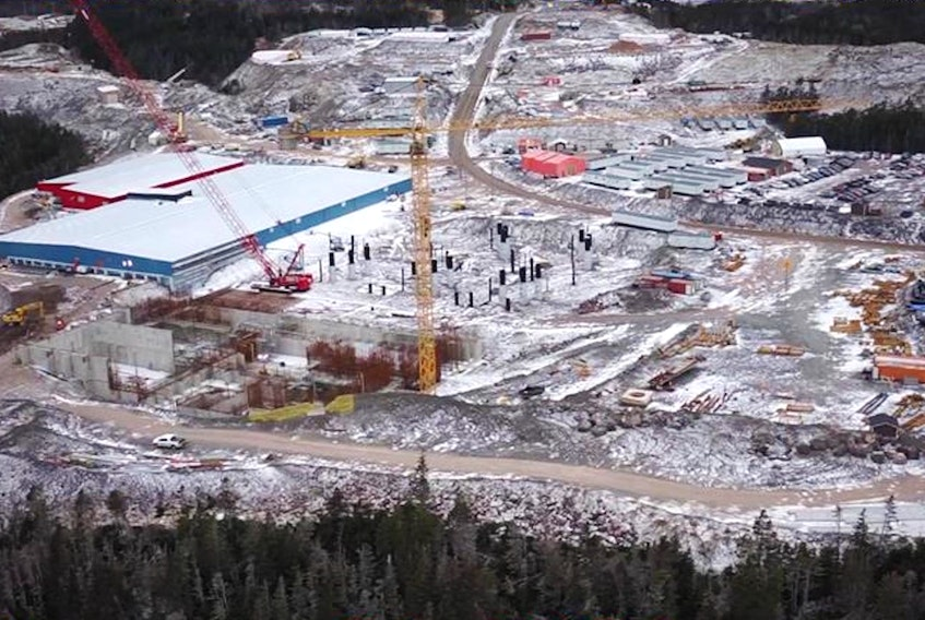 The Grieg NL hatchery site at Marystown, NL, in January, 2021.