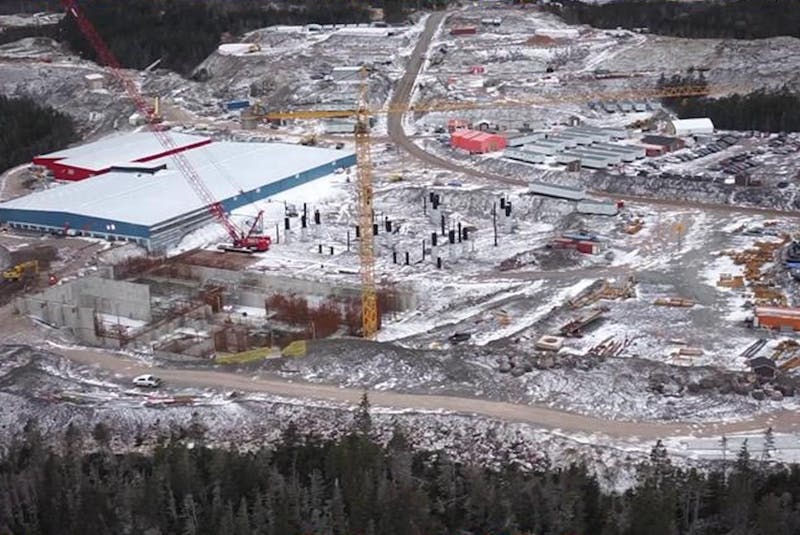 The Grieg NL hatchery site at Marystown, NL, in January, 2021. - Contributed